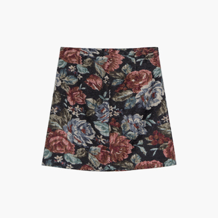 art mini skirt