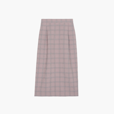 cheddar check skirt