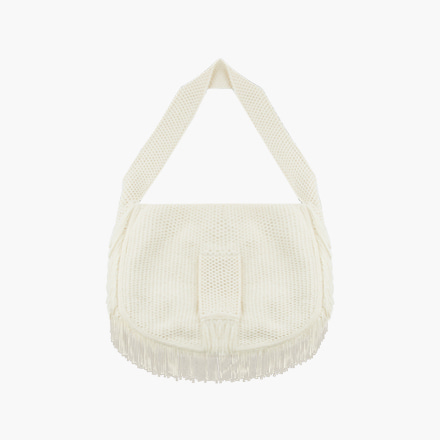 fringe knit bag